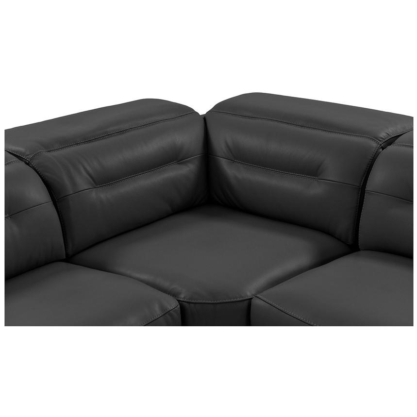Anabel Gray Power Motion Leather Sofa w/Right & Left Recliners  alternate image, 6 of 12 images.
