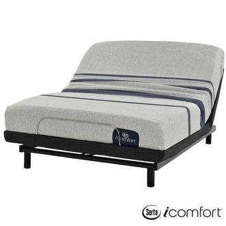 iComfort Blue 100 Queen Mattress w/Essentials III Powered Base by Serta