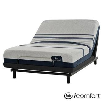 iComfort Blue 300 Queen Mattress w/Essentials III Powered Base by Serta