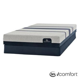 iComfort Blue 300 Queen Mattress w/Regular Foundation by Serta