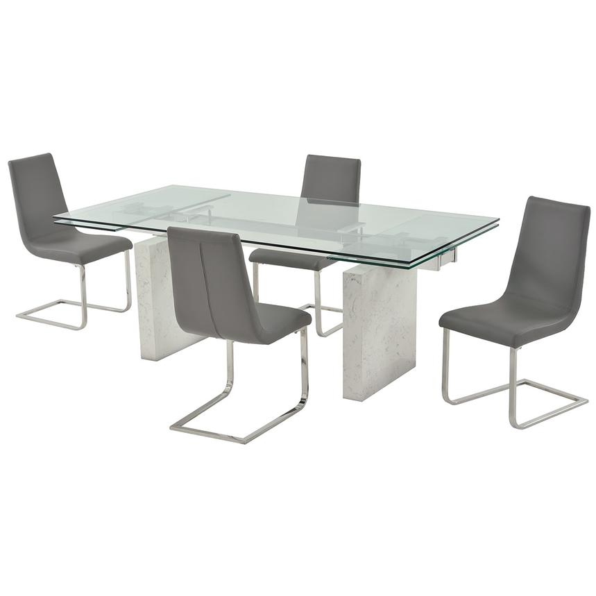 Industria/Lea Gray 5-Piece Formal Dining Set  main image, 1 of 13 images.