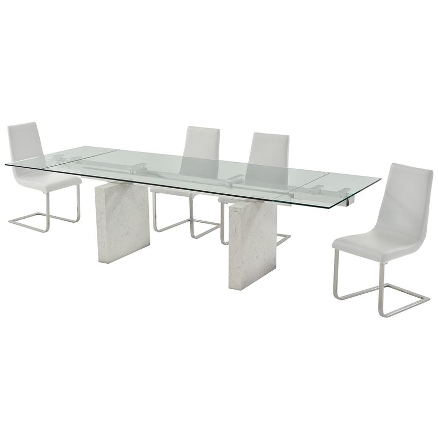 Industria/Lea White 5-Piece Formal Dining Set  alternate image, 2 of 13 images.