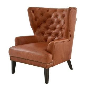 Dante Tan Leather Accent Chair
