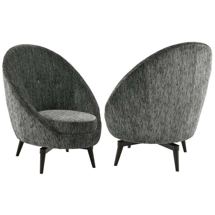swivel accent chair. Rosa Gray Swivel Accent Chair Alternate Image, 2 Of 6 Images.