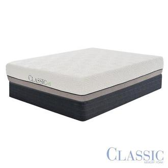 Classic HS Hybrid Queen Mattress Set w/Low Foundation by Classic Brands