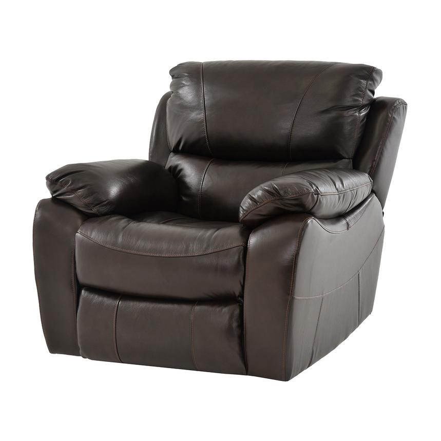 Mack Brown Power Motion Leather Recliner  main image, 1 of 5 images.