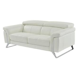 Odette White Leather Sofa