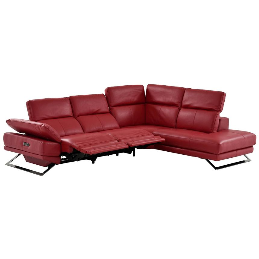 Leather Sectional Sofa Gta: Toronto Red Power Motion Leather Sofa W/Right Chaise