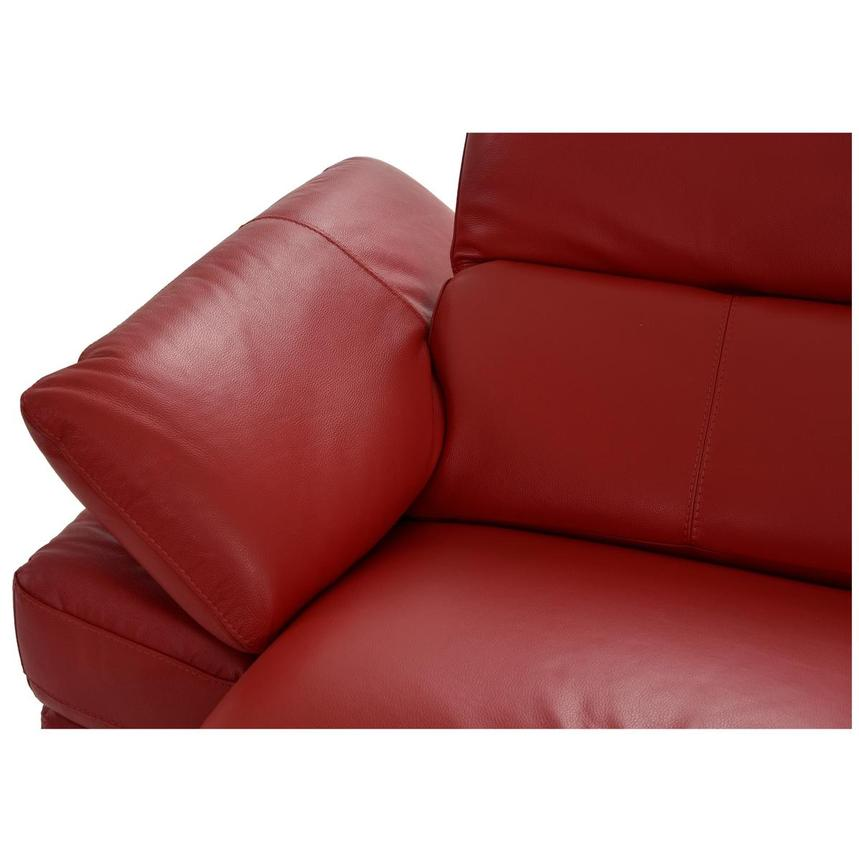 Toronto Red Power Motion Leather Sofa w/Right Chaise  alternate image, 6 of 12 images.