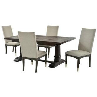Hudson Brown/Soho 5-Piece Formal Dining Set