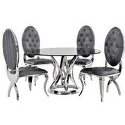 Janet Marble/Charlotte 5-Piece Formal Dining Set  main image, 1 of 11 images.