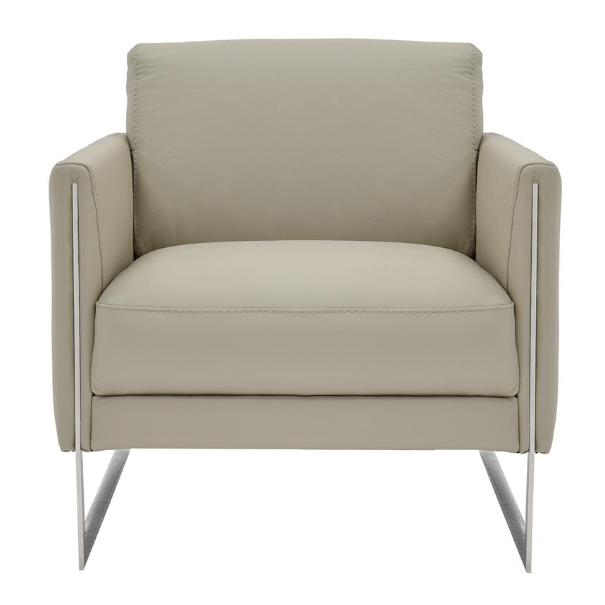Coco Gray Leather Accent Chair  main image, 1 of 5 images.