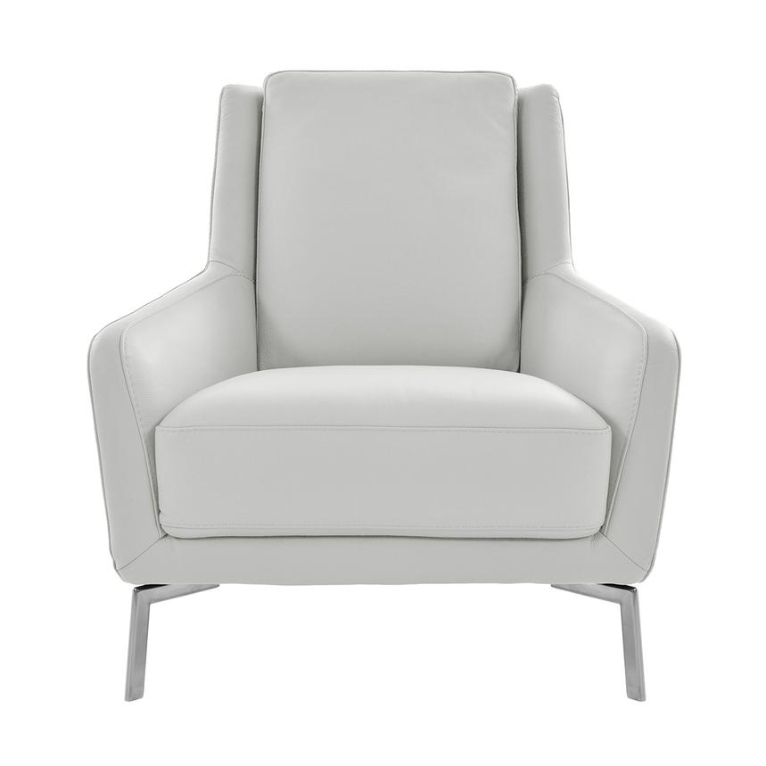 Puella White Leather Accent Chair  main image, 1 of 6 images.