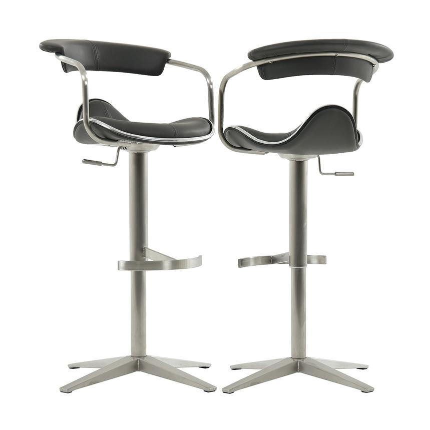 Primo Gray Adjustable Stool  main image, 1 of 6 images.