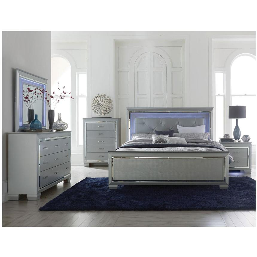 Isabel Gray 4-Piece King Bedroom Set | El Dorado Furniture