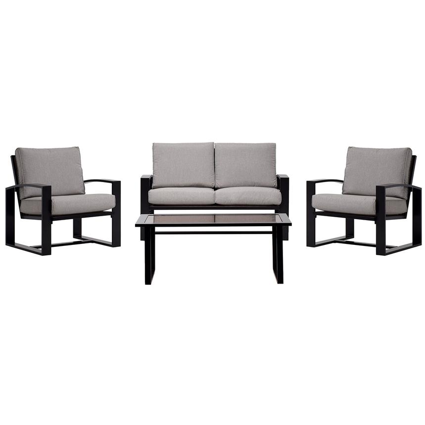 Almalfi Gray 4-Piece Patio Set  main image, 1 of 12 images.