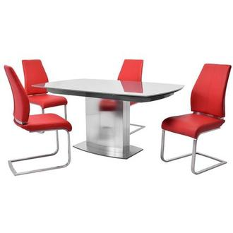 Mavis/Maday Red 5-Piece Formal Dining Set