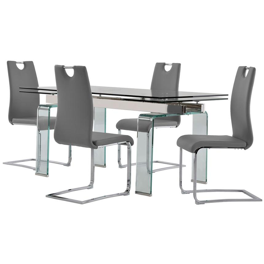 Millie/Josseline Gray 5-Piece Formal Dining Set  main image, 1 of 12 images.