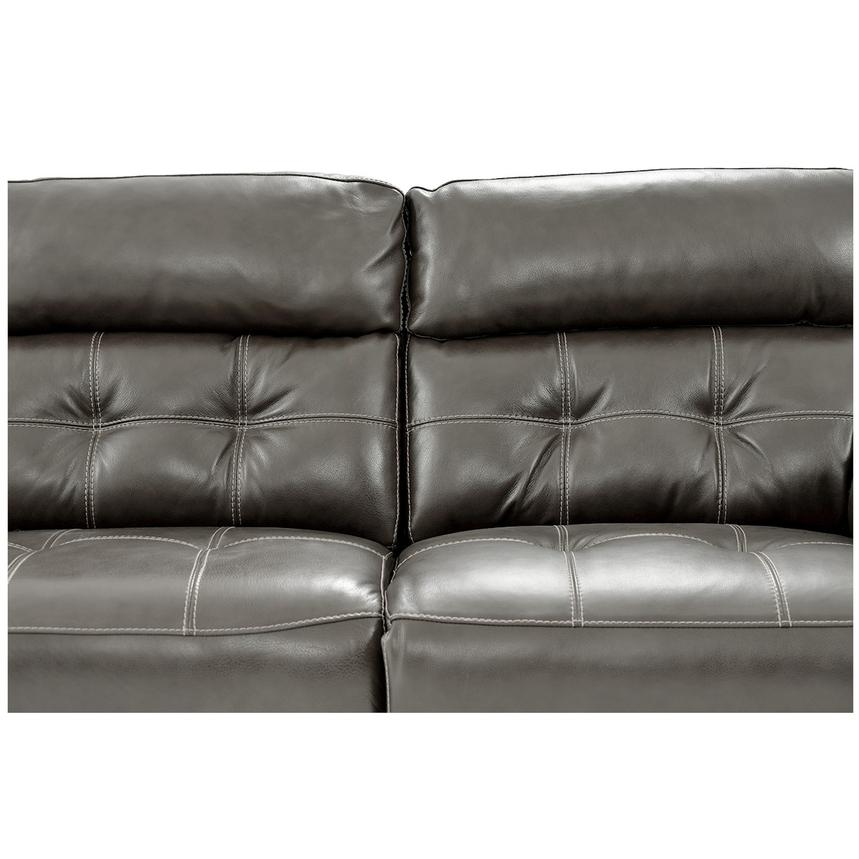 Stallion Gray Power Motion Leather Sofa w/Right & Left Recliners  alternate image, 7 of 10 images.