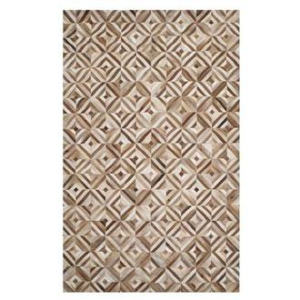 Texas Brown Cowhide Patchwork 5' x 8' Area Rug