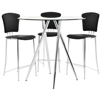 Latika/New Tracy Black 4-Piece High Dining Set