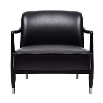 Brawn Black Leather Accent Chair