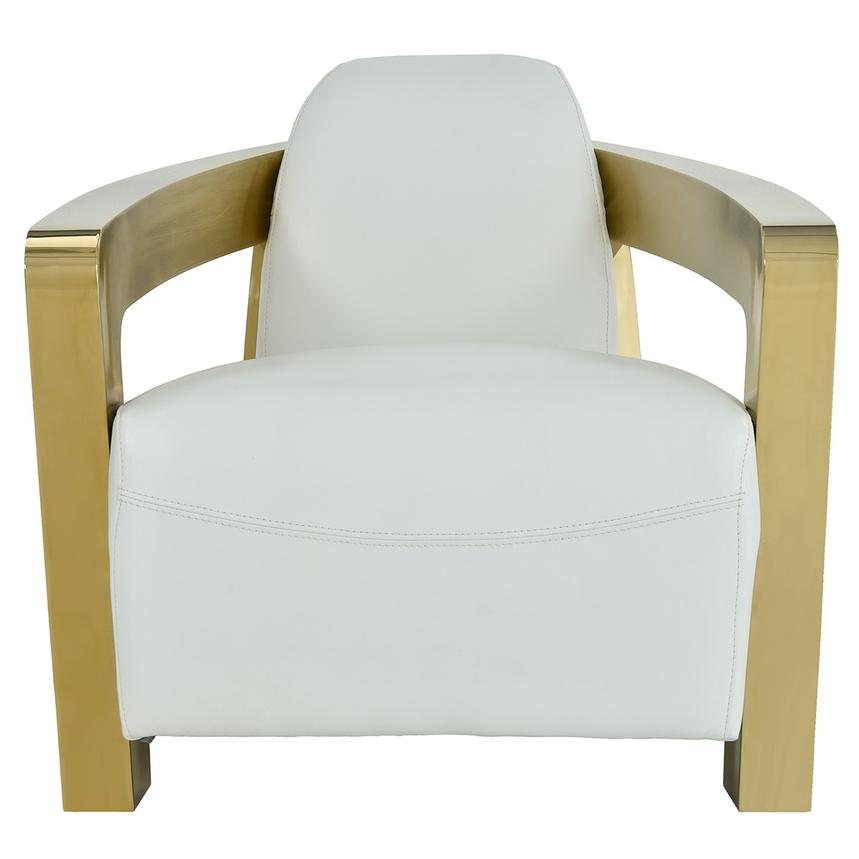 Aviator Gold Leather Accent Chair