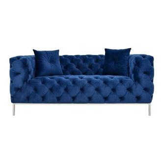 Crandon Blue Loveseat