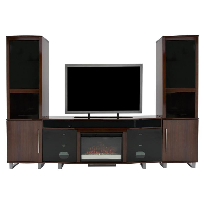 Enterprise Walnut Wall Unit w/Speakers  main image, 1 of 6 images.