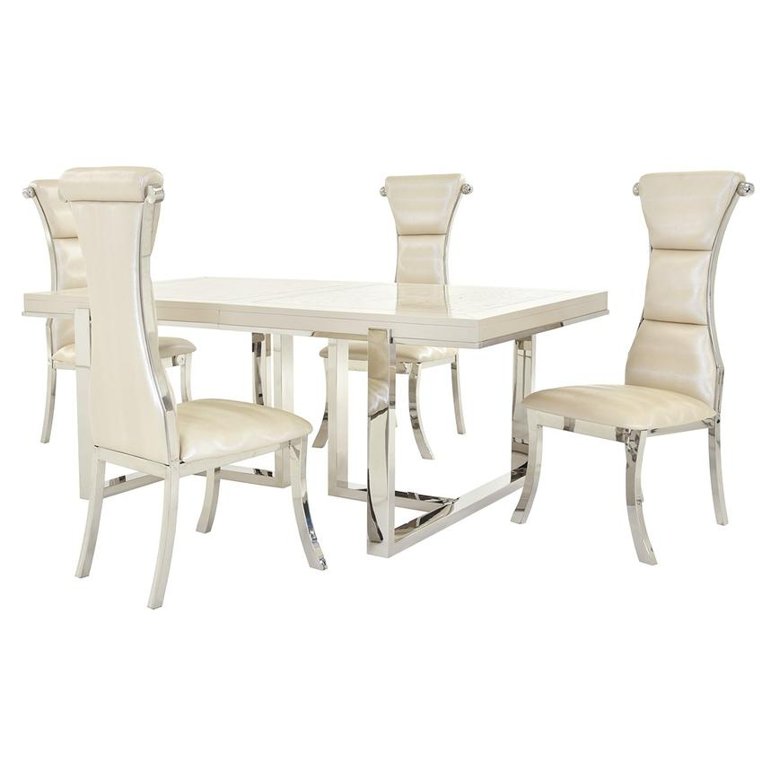 Cydney/Lillian 5 Piece Formal Dining Set Main Image, 1 Of 13 Images