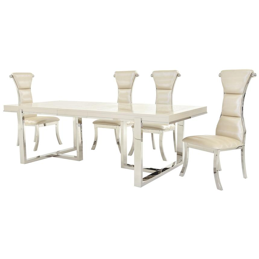 Cydney/Lillian 5 Piece Formal Dining Set Alternate Image, 2 Of 13 Images