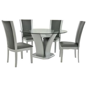 Daisy Silver 5 Piece Casual Dining Set