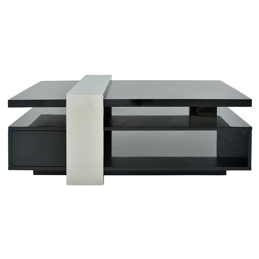 Totem Black Coffee Table W/Casters Main Image, 1 Of 10 Images.