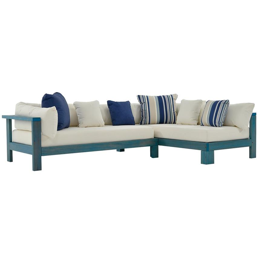 Jane Blue Sofa Made in Brazil  main image, 1 of 5 images.