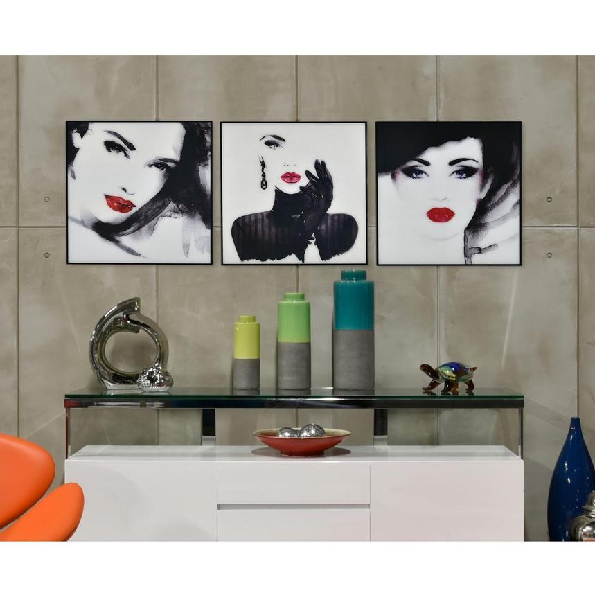 Blanc Set Of 3 Acrylic Wall Art El Dorado Furniture