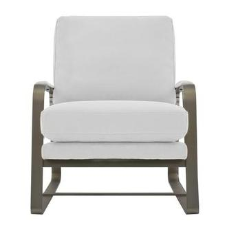 Isa White Accent Chair
