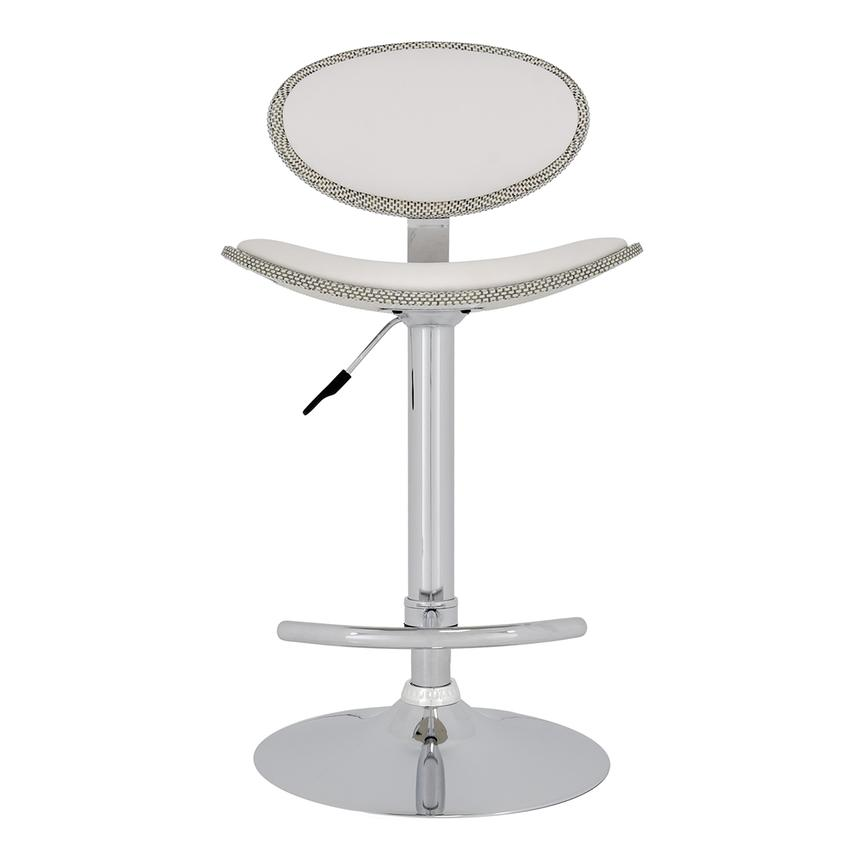Noe White Adjustable Stool  main image, 1 of 5 images.