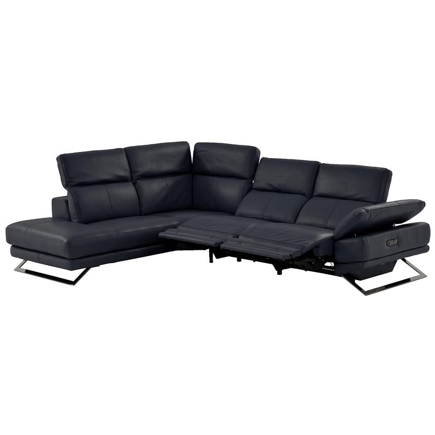 Toronto Dark Gray Power Motion Leather Sofa w/Left Chaise  alternate image, 2 of 9 images.