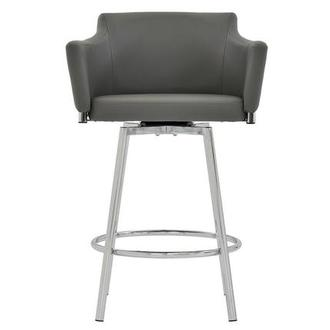 Dusty Gray Swivel Counter Stool
