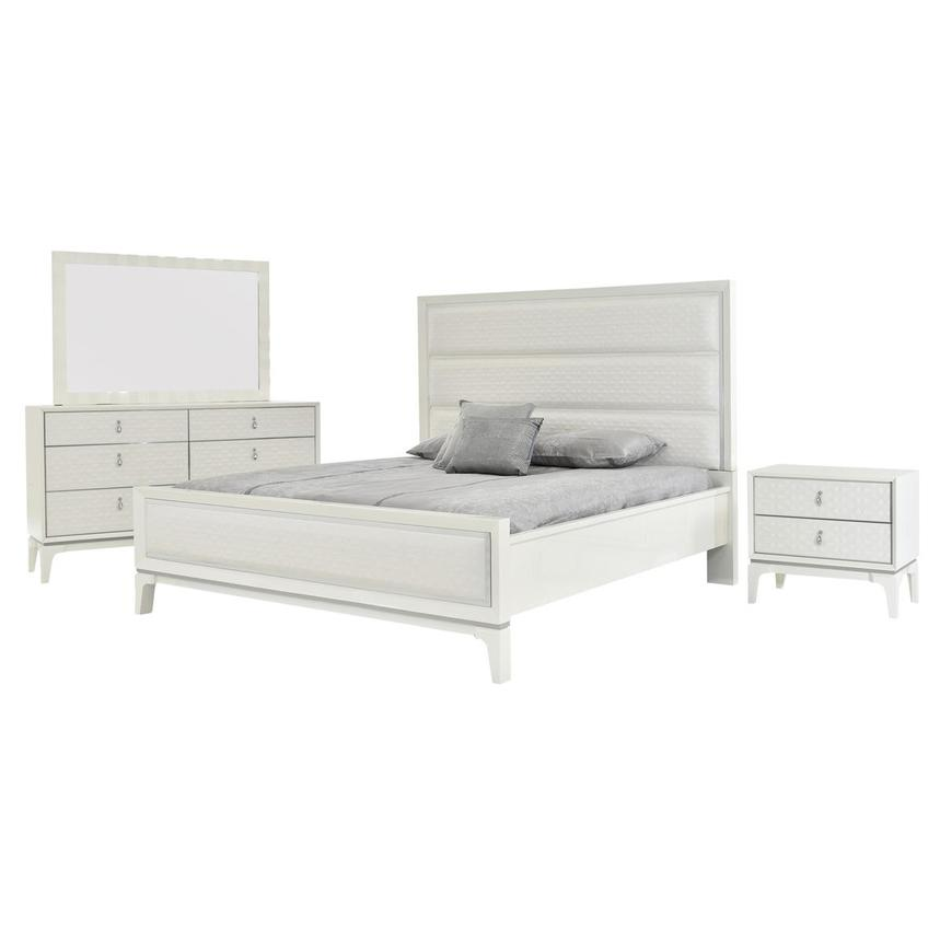 Chelsea White 4 Piece King Bedroom Set Main Image, 1 Of 6 Images.