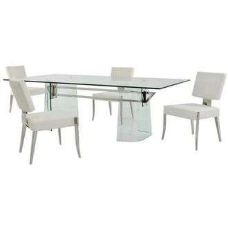 Getty/Tina White 5-Piece Formal Dining Set