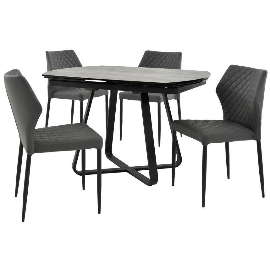 Adelle/Zari Gray 5-Piece Casual Dining Set  main image, 1 of 15 images.