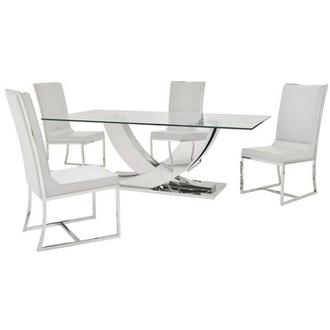 Sofitel White 5-Piece Formal Dining Set
