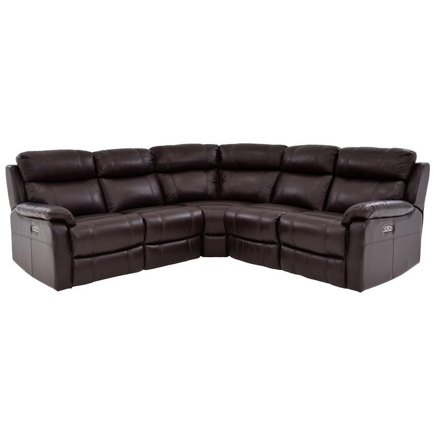 Ronald Brown Power Motion Leather Sofa w/Right & Left Recliners  main image, 1 of 6 images.