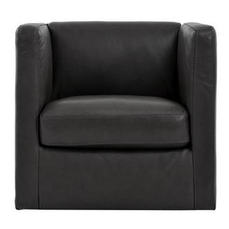 Cute Dark Gray Leather Swivel Chair