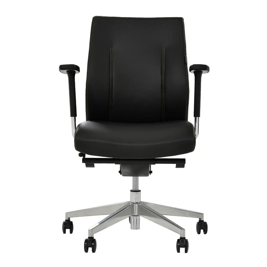 Regulo Black Low Back Desk Chair  main image, 1 of 8 images.