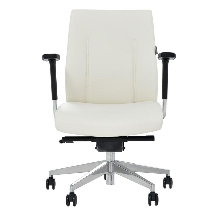 Regulo White Low Back Desk Chair Main Image 1 Of 8 Images
