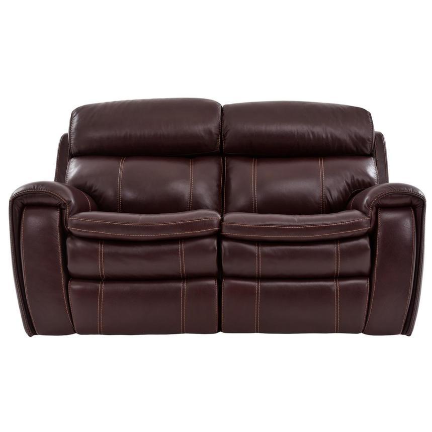 Napa Power Motion Leather Loveseat  main image, 1 of 7 images.