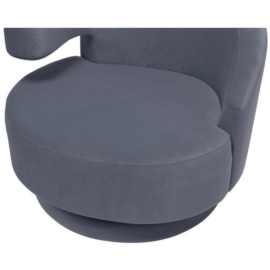 Okru Gray Swivel Chair Alternate Image, 6 Of 7 Images.