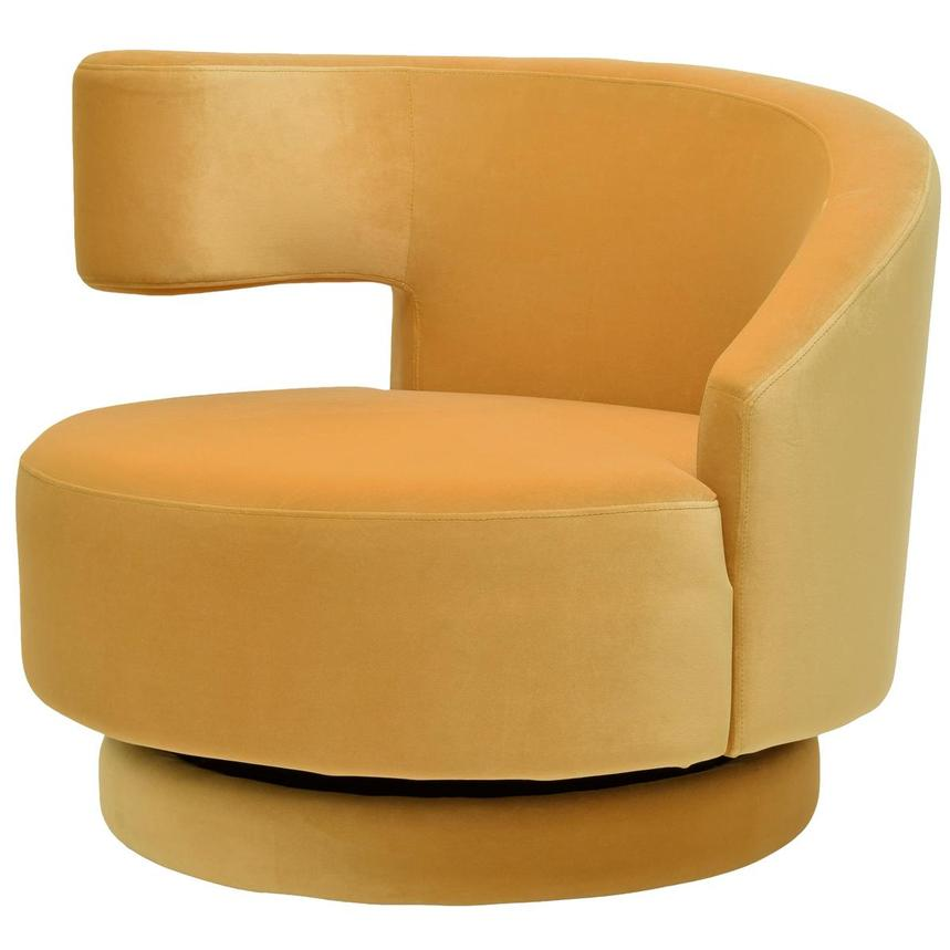 Okru Yellow Swivel Chair  alternate image, 2 of 6 images.